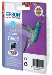 EPSON - Epson T0805 Orjinal Açık Mavi Kartuş C13T08054021