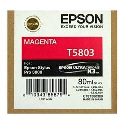 EPSON - Epson T5803 Orjinal Kırmızı Kartuş Pro 3800