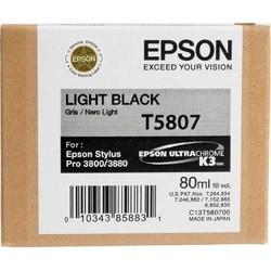 EPSON - Epson T5807 Orjinal Açık Siyah Kartuş Pro 3800/3880