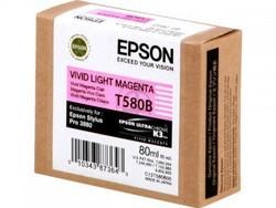EPSON - Epson T580B Orjinal Açık Kırmızı Kartuş Pro 3880