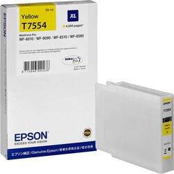 EPSON - Epson T7554 XL Orjinal Sarı Kartuş C13T755440