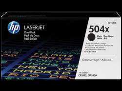 HP - HP CE250XD Orjinal Siyah Toner 2li Paket 504X