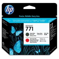 HP - HP 771 Mat Siyah-Kromatik Kırmızı Baskı Kafası CE017A