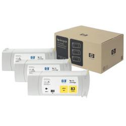 HP - HP C5075A Orjinal Sarı Kartuş 3lü Paket 83 (680ML)